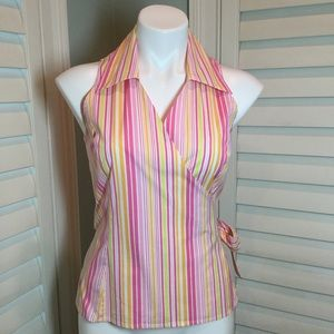 Lilly Pulitzer Maritime Stripe Wrap Top, 8